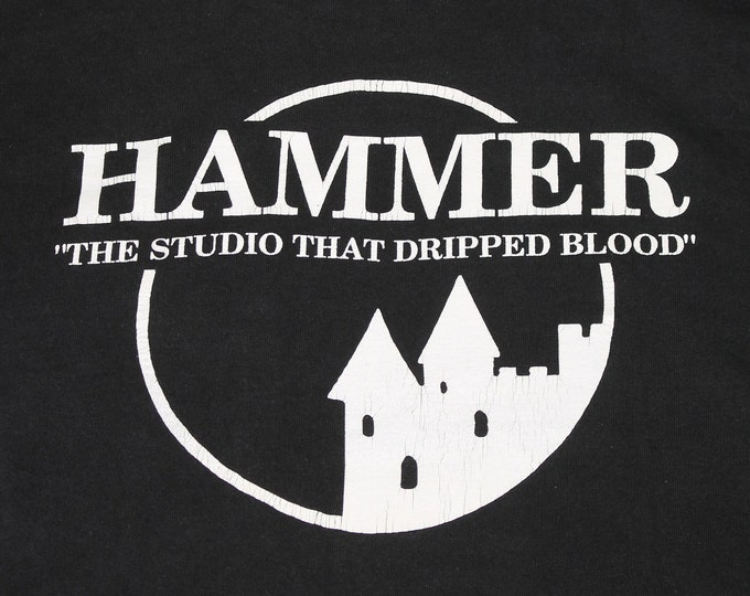 XL * vtg 90s Hammer Film Productions horror movie pocket t shirt * 15.162 monster