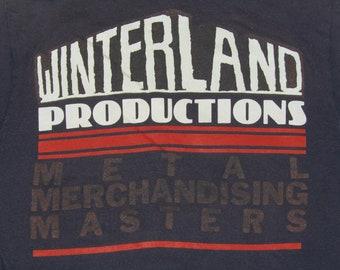 S/M * vtg 80s 1988 Winterland Heavy Metal Merchandising convention t shirt * tour medium small * 6.177