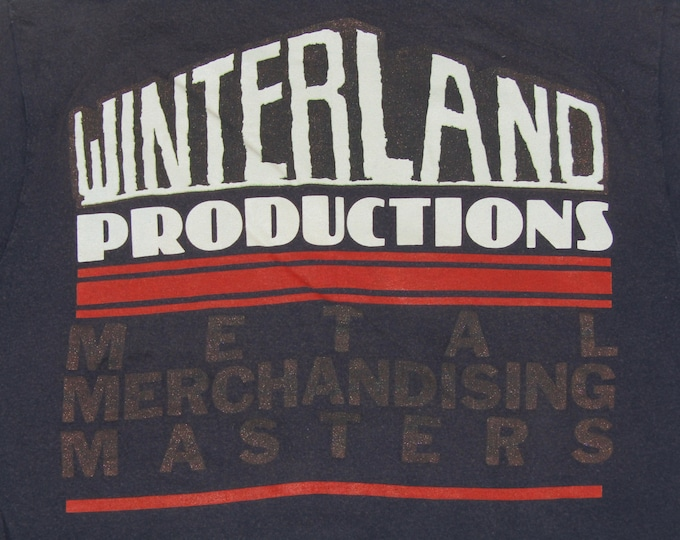 S/M * vtg 80s 1988 Winterland Heavy Metal Merchandising convention t shirt * tour medium small * 6.177