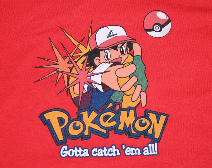 S * NOS vtg 90s Pokemon gotta catch em all t shirt * 43.156