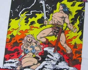 XL * NOS vtg 90s 1992 Conan The Barbarian comic t shirt * 39.180 movie