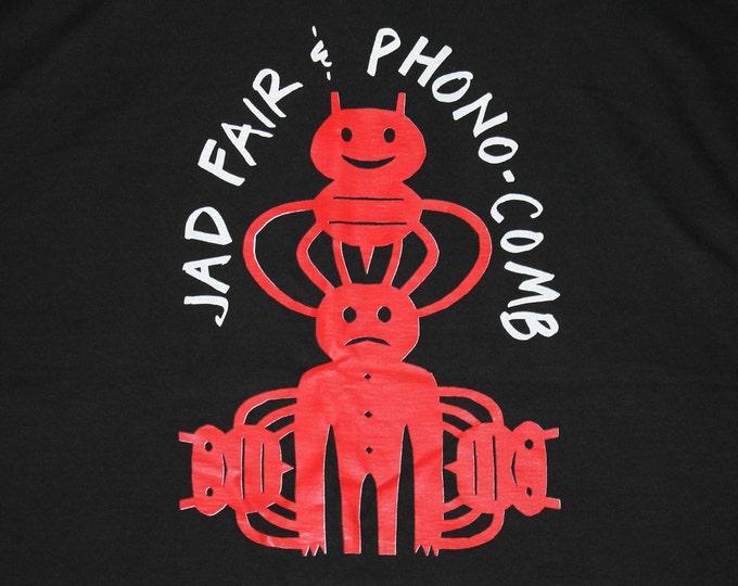 XL * vtg 90s Jad Fair & Phono Comb t shirt * half japanese daniel johnston teenage fanclub * 100.31