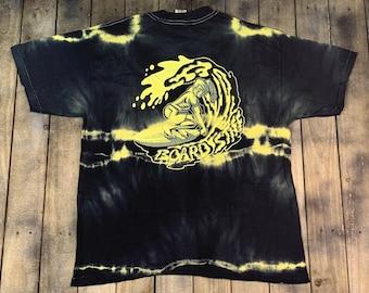 XL * nos vtg 80s Disney Surf Shop tie dye Board Stiff t shirt