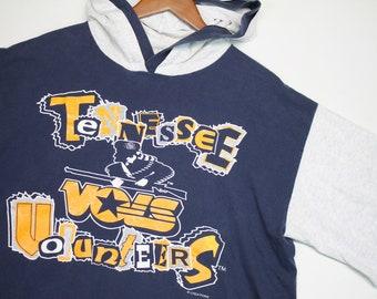 L/XL * vtg 90s Tennessee Vols t shirt hoodie * volunteers * 8.130 large xl