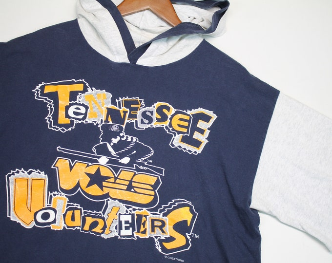 L/XL * vtg 90s Tennessee Vols t shirt hoodie * volunteers * 8.130 large xl