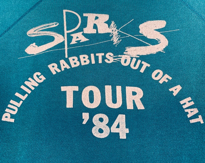 M * vtg 80s 1984 SPARKS tour sweatshirt * pulling rabbits out of a hat ron russell mael t shirt * 23.167
