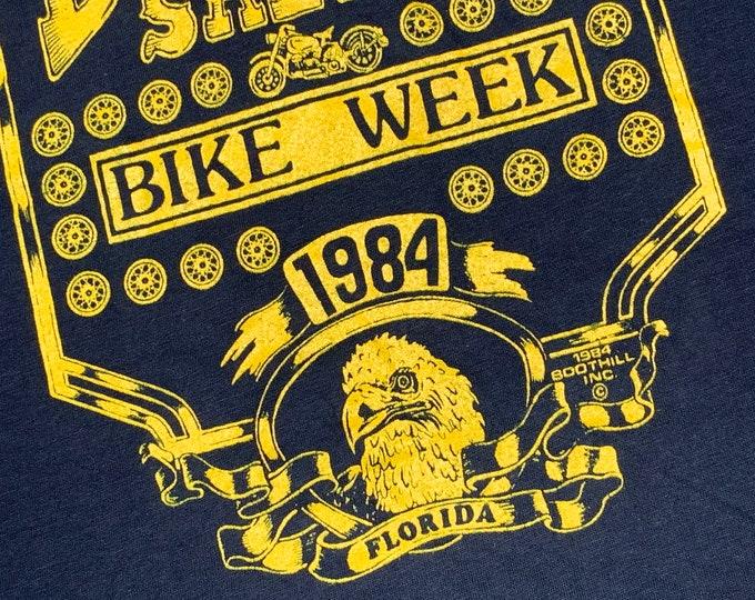 XS * nos vtg 80s 1984 Boothill Saloon Florida biker pocket t shirt * motorcycle * 64.154