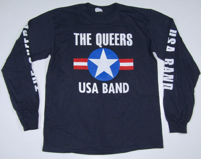 XL * NOS vtg 90s The Queers lookout records long sleeve t shirt * punk