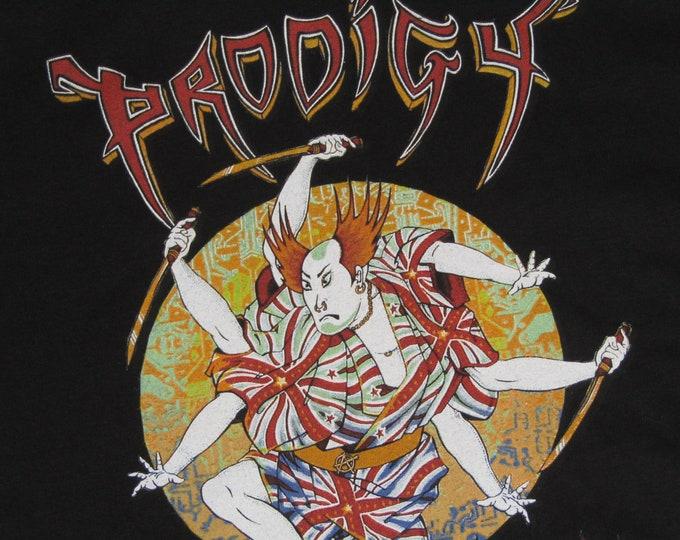 S/M * vtg 90s 1998 Prodigy t shirt * keith flint rave techno edm dj EMEK * 3.192