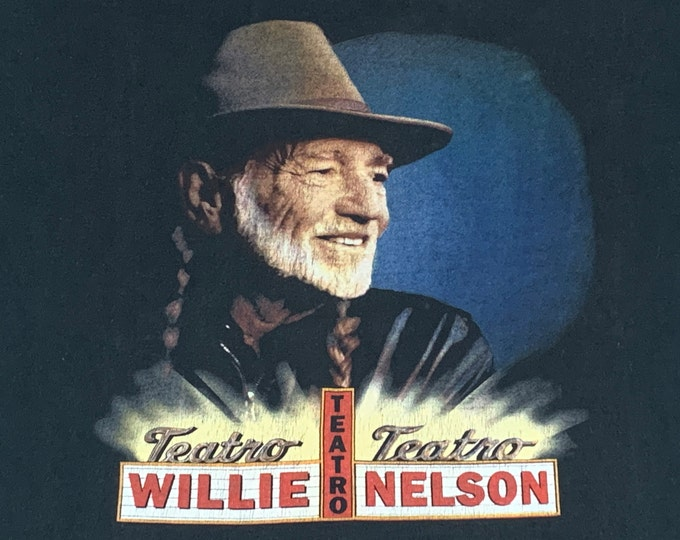 L * vtg 90s 1998 Willie Nelson Teatro t shirt * classic country music outlaw * 9.156