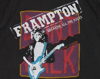 S/M * vtg 80s 1981 Peter Framptom concert tour t shirt * small medium * 58.154