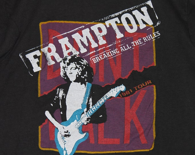 S/M * vtg 80s 1981 Peter Framptom concert tour t shirt * small medium * 58.154