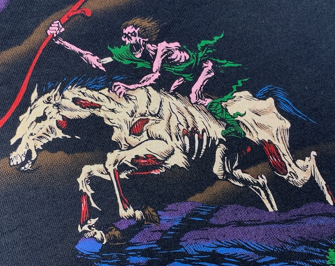 XXL * nos vtg 90s 1994 Liquid Blue 2 sided battle scene t shirt * fantasy horror 2XL * 64.153
