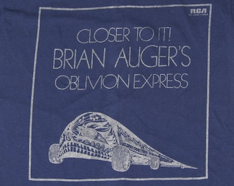 S * NOS vtg 70s 1973 Brian Auger Oblivion Express closer to it promo t shirt * jazz auger's rap sample * 6.176