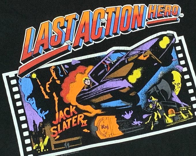 L * vtg 90s 1993 Last Action Hero movie t shirt * arnold schwarzenegger * 92.40