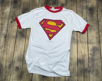 S * vintage 80s 1981 Superman II promo movie t shirt * 66.181 dc comics comic book