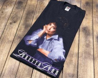L * vintage 90s 1999 Loretta Lynn autographed tour t shirt * classic country music * signed 28.201