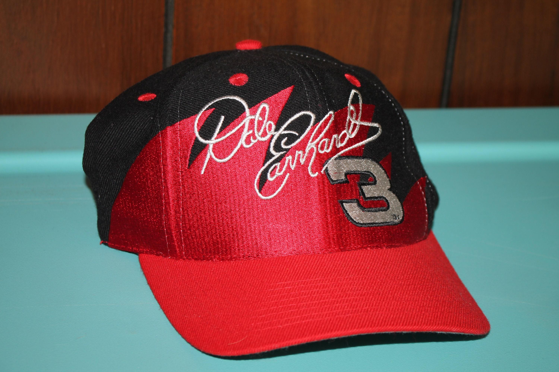 vtg 90s Dale Earnhardt  3 sharktooth snapback hat   nascar racing 0f8b1a84a77
