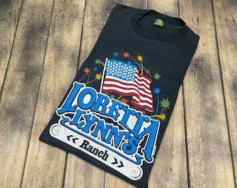 M * vintage 80s 1985 Loretta Lynn t shirt * 100.59 concert tour classic country music