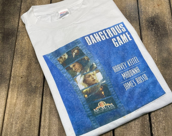 XL * vintage 90s 1994 Dangerous Game movie t shirt * Madonna Harvey Keitel promo * 63.180