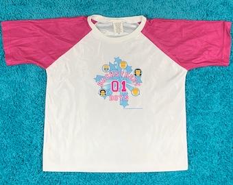 womens S * nos vtg Backstreet Boys t shirt jersey
