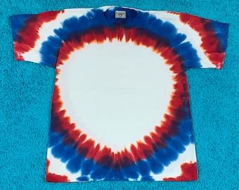 M * nos vtg 90s tie dye t shirt * single stitch * 63.172