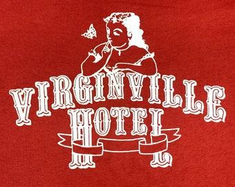 S * thin vtg 80s Virginville Hotel PA t shirt * virgin * 57.173