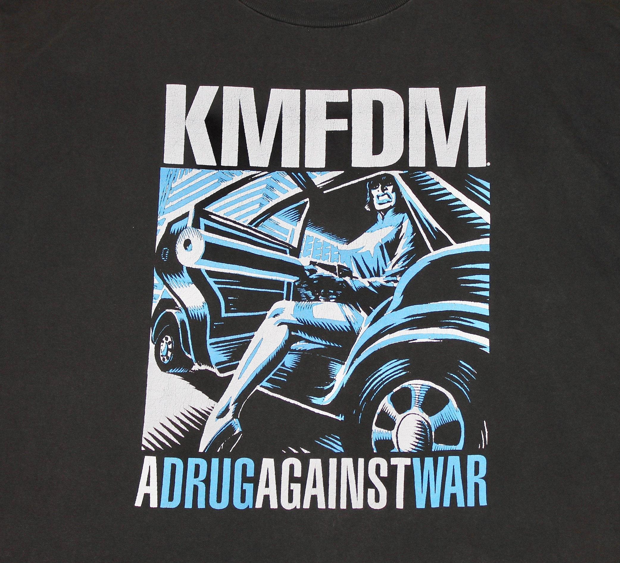 Xl Vtg 90s Kmfdm A Drug Against War T Shirt 8748