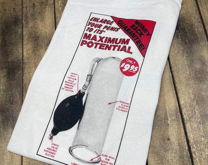 3XL * deadstock vintage 90s Penis Pump t shirt * sex adult novelty toy porn porno xxxl gay * 63.181