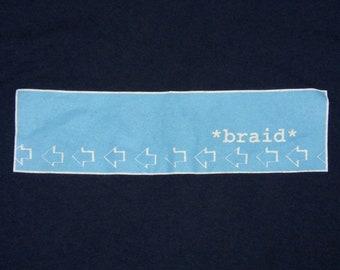 L * vtg 90s BRAID t shirt * emo indie hey mercedes * 79.120