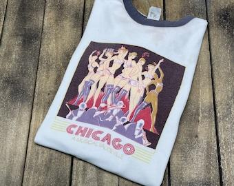 S/M * vintage 70s Chicago musical t shirt * broadway theatre theater small medium movie Vaudeville * 66.179