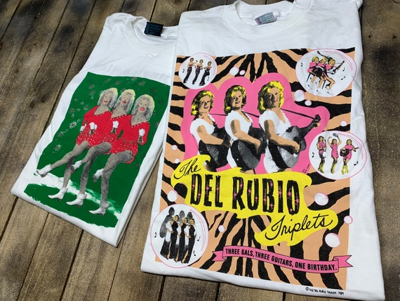 XL * deadstock vtg 90s Del Rubio Triplets t shirt