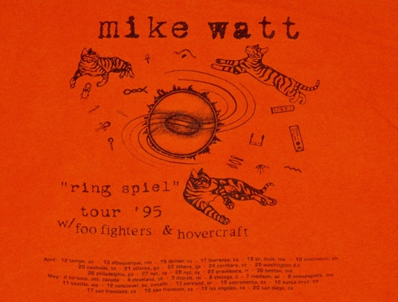 XL * vtg 90s 1995 Mike Watt / Foo Fighters first t