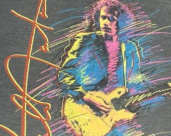 M * thin vtg 80s 1985 carlos SANTANA tour t shirt * concert * 29.197