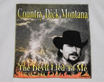 XL * NOS vtg 90s 1996 Country Dick Montana the devil lied to me t shirt * the beat farmers mojo nixon * 99.24