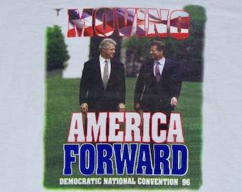 XXL * NOS vtg 90s 1996 Clinton Gore t shirt * bill al 2xl * 85.74