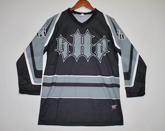 L * nos vtg 90s Triple H The Game wwf wrestling jersey shirt