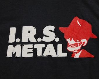 XS * nos vtg 80s IRS Records heavy metal division t shirt * 98.25 black sabbath
