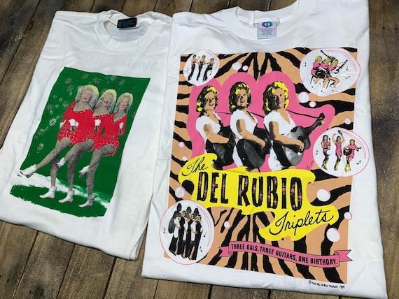 L * deadstock vtg 90s Del Rubio Triplets t shirt l