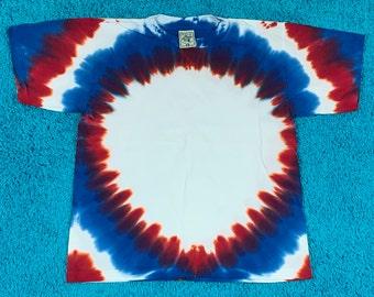 M * nos vtg 90s tie dye t shirt * single stitch * 46.163