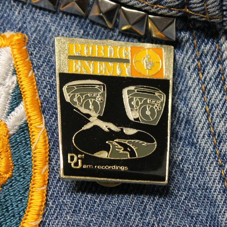 for shirt jacket hat rap NOS vtg 80s licensed Public Enemy enamel pin Lot of 10