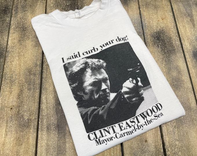 M * vintage 80s Clint Eastwood mayor t shirt * movie carmel by the sea medium * 32.204 western