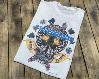 M/L * vintage 80s 1988 Robert Plant tour t shirt * led zeppelin medium large concert * 65.191