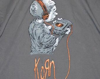 XL * NOS vtg 90s 1998 KORN follow the leader tour t shirt