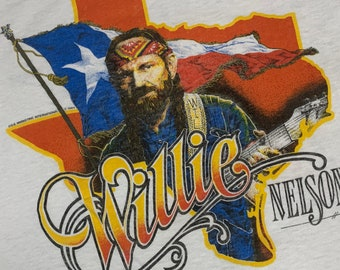 XL * vtg 80s 1984 Willie Nelson tour t shirt * classic country music outlaw * 51.146