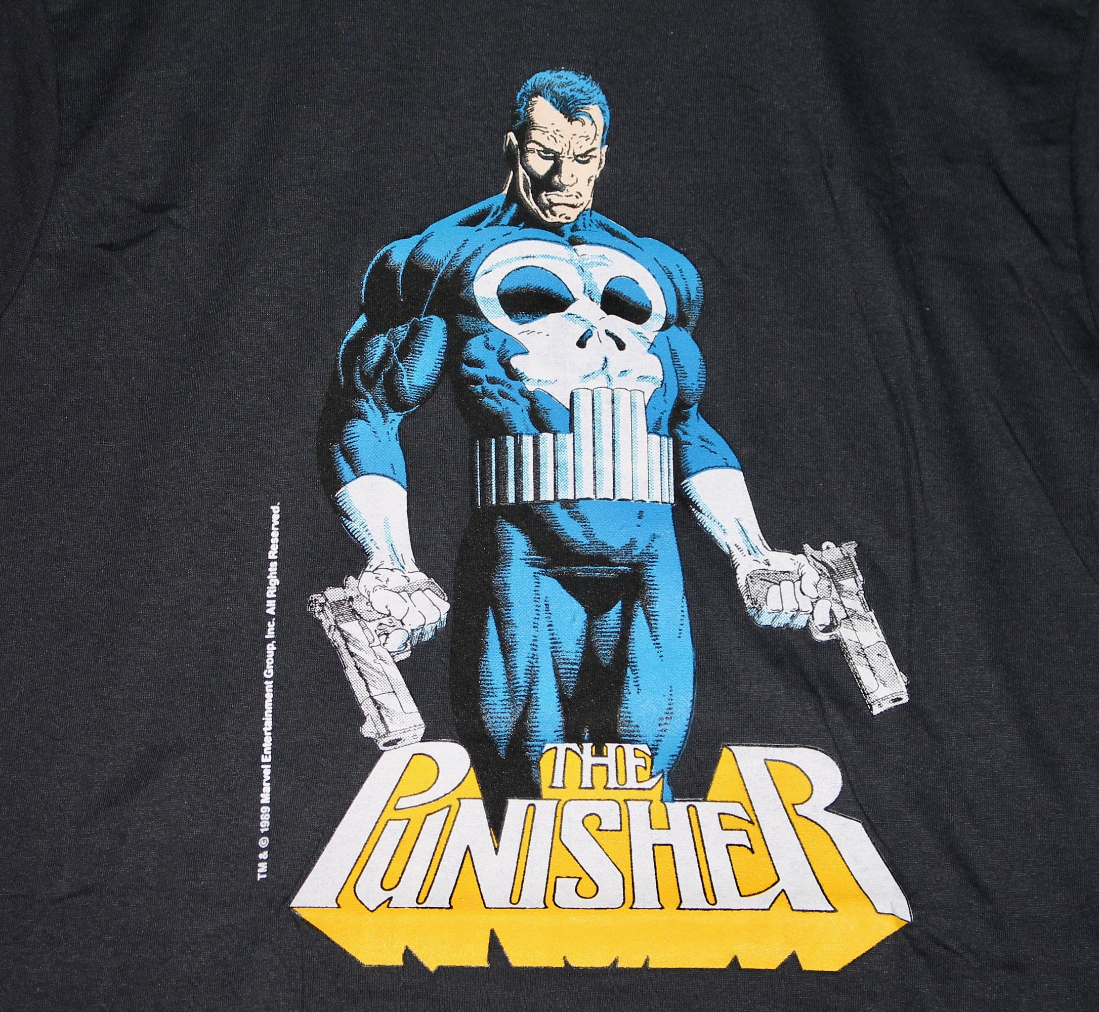 S/M * NOS thin vtg 80s 1989 The Punisher Marvel Comic screen