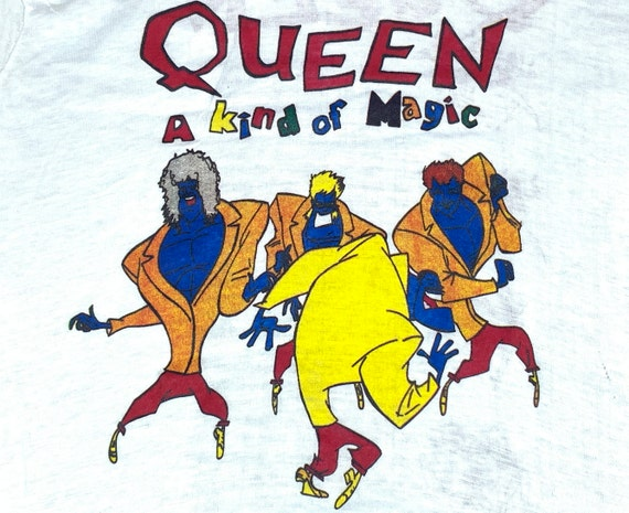 S/M * nos vtg 80s 1986 QUEEN european tour t shirt