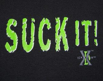 XS * NOS vtg 90s Suck It D Generation X t shirt * WWF Wrestling wwe