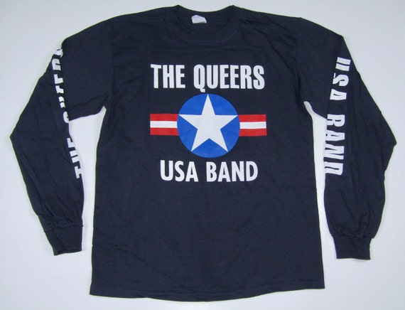 M * NOS vtg 90s The Queers lookout records long sl