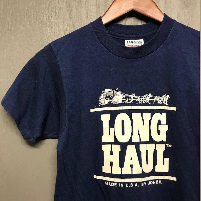 e27e11a9f XS vintage early 80s Jonbil LONG HAUL trucker jeans t shirt | Etsy